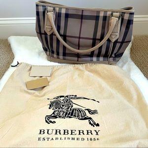 Burberry Grey Nova Check Handbag